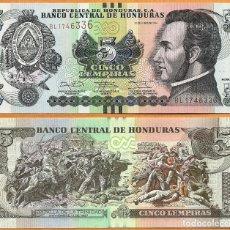 Billetes extranjeros: HONDURAS - 5 LEMPIRAS - 12 DE JUNIO DE 2014 - S/C. Lote 172308275