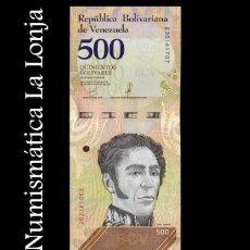 Banconote internazionali: VENEZUELA 500 BOLÍVARES 2018 PICK 108B SC UNC. Lote 208095923