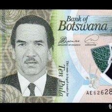 Billetes extranjeros: BOTSWANA 10 PULA 2018 PICK NUEVO POLÍMERO SC UNC. Lote 255940805