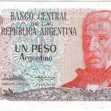 Billetes extranjeros: ARGENTINA 1 PESO ARGENTINO 1983 PK 311 A.2 FIRMAS P.C. LÓPEZ Y E.G. VÁZQUEZ SIN CIRCULAR. Lote 172799584