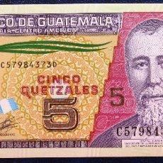 Billetes extranjeros: GUATEMALA BILLETE DE 5 QUETZALES DEL 2010 POLIMERO S/C . Lote 173050210
