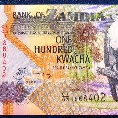 Billetes extranjeros: ZAMBIA BILLETE DE 100 KWACHA S/C. Lote 173050258
