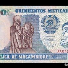 Billetes extranjeros: MOZAMBIQUE 500 METICAIS 1991 PICK 134 SERIE AA SC UNC. Lote 255939065