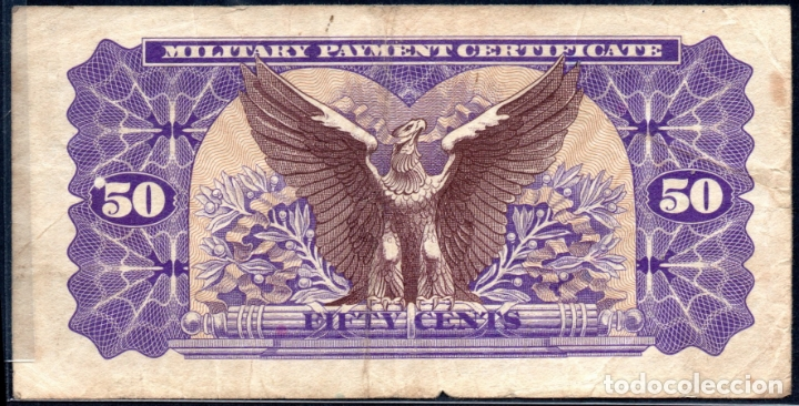 Billetes extranjeros: ESTADOS UNIDOS UNITED STATES USA - 50 CENTAVOS - MILITARY PAYMENT - SERIES DEL EJERCITO - Foto 2 - 173735727