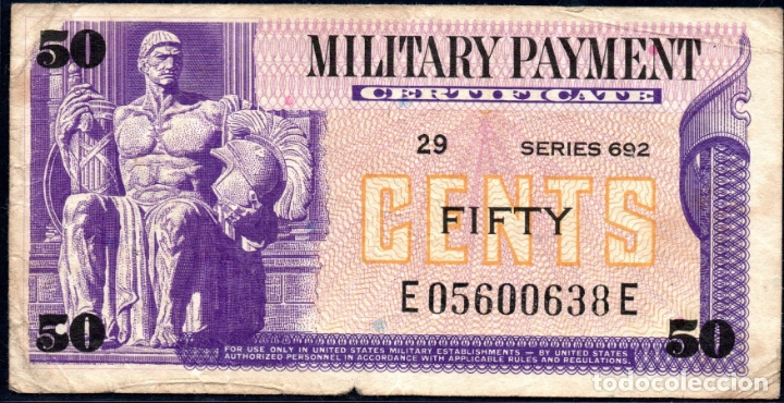 ESTADOS UNIDOS UNITED STATES USA - 50 CENTAVOS - MILITARY PAYMENT - SERIES DEL EJERCITO (Numismática - Notafilia - Billetes Extranjeros)