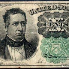 Billetes extranjeros: ESTADOS UNIDOS UNITED STATES USA - 10 CENTAVOS - SERIES DE 1874 PICK 122. Lote 173780193