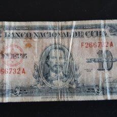 Billetes extranjeros: BILLETE ANTIGUO DE CUBA, DE ANTES DEL TRIUNFO DE LA REVOLUCIÓN. Lote 173799137