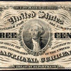 Billetes extranjeros: ESTADOS UNIDOS UNITED STATES USA - 3 CENTAVOS - SERIES DE 1863 PICK 105. Lote 173807217