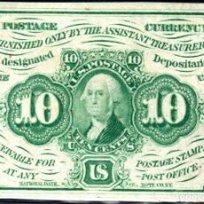 Billetes extranjeros: ESTADOS UNIDOS UNITED STATES USA - 10 CENTAVOS - SERIES DE 1862 . Lote 173807859