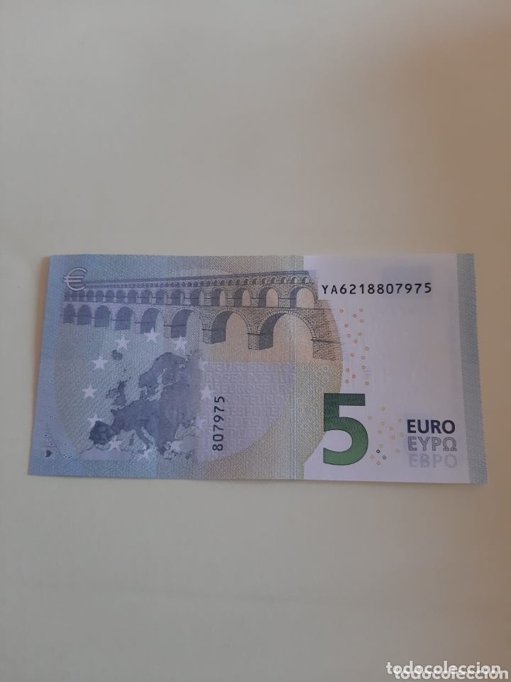 Billetes extranjeros: 2013 5 Euros Draghi serie YA6218807975 plancha 807975 - Foto 2 - 173835247