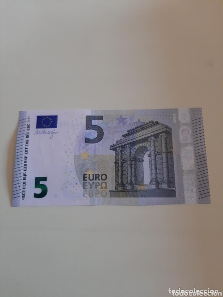 2013 5 EUROS DRAGHI SERIE YA6218807975 PLANCHA 807975 (Numismática - Notafilia - Billetes Extranjeros)
