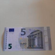 Billetes extranjeros: 2013 5 EUROS DRAGHI SERIE YA6218807975 PLANCHA 807975. Lote 173835247