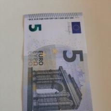 Billetes extranjeros: 2013 DRAGHI 5 EUROS SERIE Y A 6218807966 PLANCHA 807966. Lote 173835483
