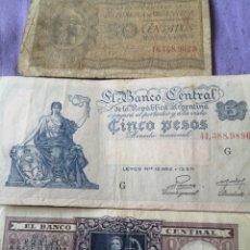 Billetes extranjeros: BILLETE ARGENTINA ANTIGUOS . Lote 173853548