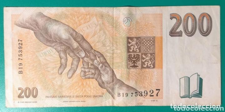 Billetes extranjeros: República Checa. Billete 200 Coronas. 1996. EBC. - Foto 2 - 173858289