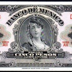 Billetes extranjeros: MEJICO - MEXICO - 5 PESOS 1963 - PICK 60 - S/C. Lote 173867587