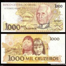 Billetes extranjeros: BRASIL - 1000 CRUZEIROS - SIN FECHA (1991) - S/C. Lote 173926584