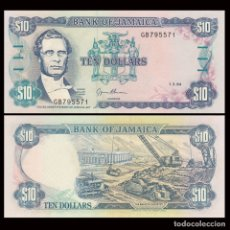 Billetes extranjeros: JAMAICA - 10 DOLLARS - (1.3.94) - S/C. Lote 173926744