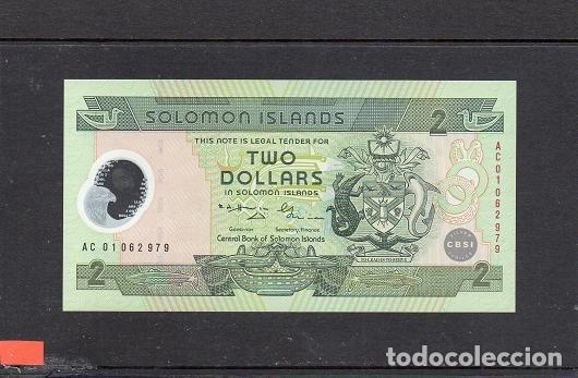 ISLAS SALOMON 2001. 2 DOLLARS. POLIMERO, P-21A, SC.UNC, 2 ESCANER (Numismática - Notafilia - Billetes Extranjeros)