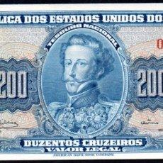Billetes extranjeros: BRASIL - 200 CRUZEIROS 1964 PICK.171C S/C. Lote 173961565