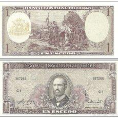 Billetes extranjeros: CHILE 1 ESCUDO 1962 S/C. Lote 173979494