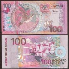 Banconote internazionali: SURINAME (SURINAM). 100 GULDEN 1.1.2000. PICK 149. S/C.. Lote 254430350