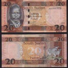 Billetes extranjeros: SOUTH SUDAN (SUDAN DEL SUR) - 20 SOUTH SUDANESE POUNDS - AÑO 2015 - S/C. Lote 174082234