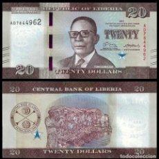 Billetes extranjeros: LIBERIA - 20 DOLLARS - AÑO 2017 - S/C. Lote 174082674