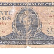 Billetes extranjeros: BILLETE DE CUBA DE 20 PESOS DE 1983 CIRCULADO CAMILO CIENFUEGOS. Lote 174102975