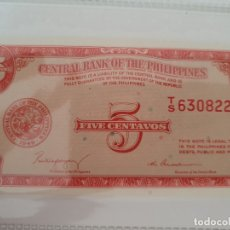 Billetes extranjeros: 5 CENTAVOS DE FILIPINAS. Lote 174171312