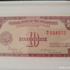 Billetes extranjeros: 10 CENTAVOS DE FILIPINAS. Lote 174171344