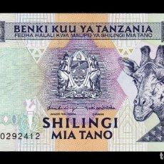Billetes extranjeros: TANZANIA 500 SHILINGI JIRAFA 1997 PICK 30 SERIE AK SC UNC. Lote 195279545