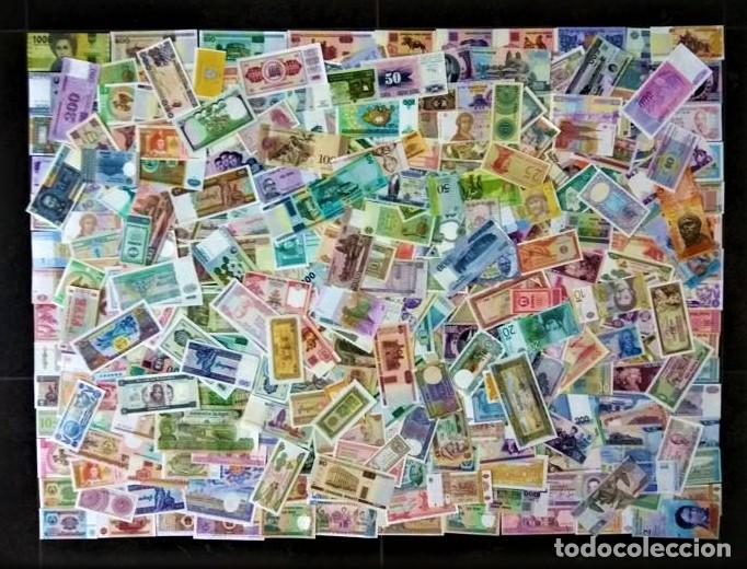 GRAN LOTE 150 BILLETES DEL MUNDO CALIDAD UNC TODOS DIFERENTES (Numismática - Notafilia - Billetes Extranjeros)