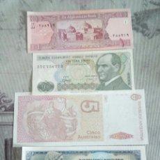 Billetes extranjeros: LOTE DE 4 BILLETES DE VARIOS PAISES. Lote 174973990