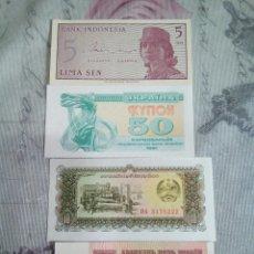 Billetes extranjeros: LOTE DE 4 BILLETES DE VARIOS PAÍSES. Lote 174974640