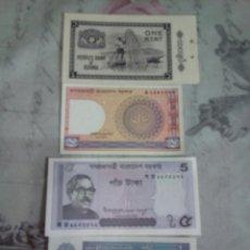 Billetes extranjeros: LOTE DE 4 BILLETES DE VARIOS PAÍSES. Lote 174976323