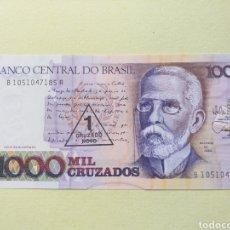 Billetes extranjeros: BILLETE BRASIL 1000 CRUZADOS S/C PLANCHA. Lote 175235514