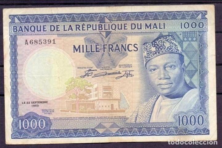 1000 FRANCOS MALI 1960 MBC+ (Numismática - Notafilia - Billetes Extranjeros)