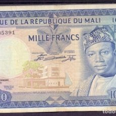 Billetes extranjeros: 1000 FRANCOS MALI 1960 MBC+. Lote 51587040