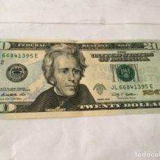 Billetes extranjeros: USA - BILLETE 20$. - AÑO 2009- DOBLADO - MUY BIEN CONSERVADO. Lote 175309497