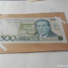Billetes extranjeros: BILLETE 500 CRUZADOS - BANCO CENTRAL DO BRASIL. . Lote 175331364