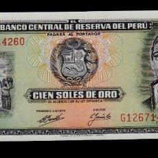 Billetes extranjeros: PERU - 100 SOLES DE ORO - 16 DE MAYO DE 1974 - S/C (VER FOTO ADICIONAL). Lote 175334259