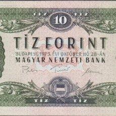 Billetes extranjeros: BILLETES HUNGRIA - 10 FORINT 1975 - SERIE -A 118 120139 - PICK-168E (SC). Lote 192141945