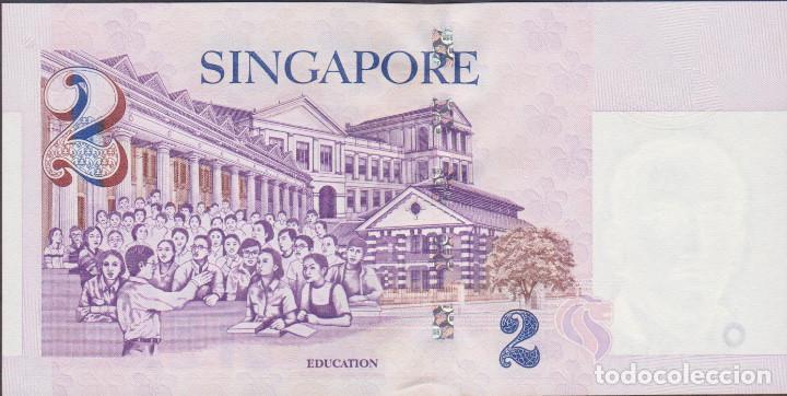 Billetes extranjeros: BILLETES SINGAPUR - 2 dollars (1999) - serie 0FC 131667 - pick-38 (SC) - Foto 2 - 175455212