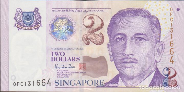 BILLETES SINGAPUR - 2 DOLLARS (1999) - SERIE 0FC 131667 - PICK-38 (SC) (Numismática - Notafilia - Billetes Extranjeros)