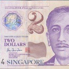 Billetes extranjeros: BILLETES SINGAPUR - 2 DOLLARS (1999) - SERIE 0FC 131667 - PICK-38 (SC). Lote 175455212