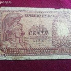 Billetes extranjeros: ITALIA. 100 LIRAS DE 1951. Lote 175597345