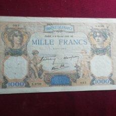 Billetes extranjeros: FRANCIA. 1000 FRANCOS DE 1940. MBC. Lote 175839000