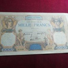 Billetes extranjeros: FRANCIA. 1000 FRANCOS DE 1940. MBC. Lote 175839018