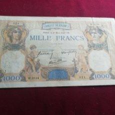Billetes extranjeros: FRANCIA. 1000 FRANCOS DE 1940 MBC. Lote 175843488